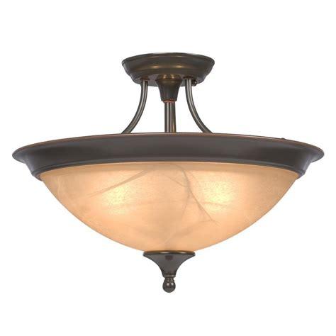 copper semi flush light filament design negron 3 light dark brown copper