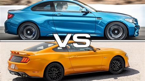 Mustang Vs Bmw by 2016 Bmw M2 Vs 2018 Ford Mustang Gt