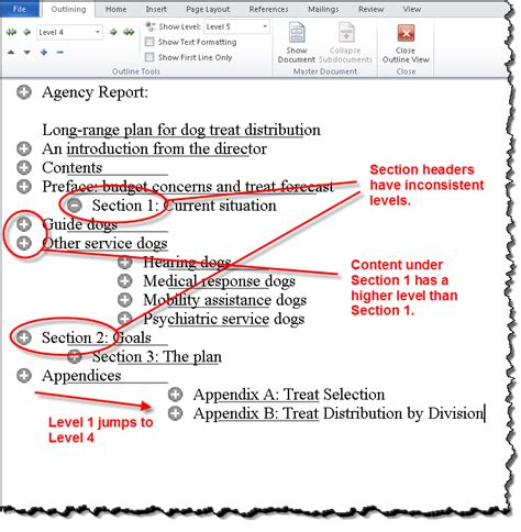 What Is A Section In Word by Skipped Heading Level