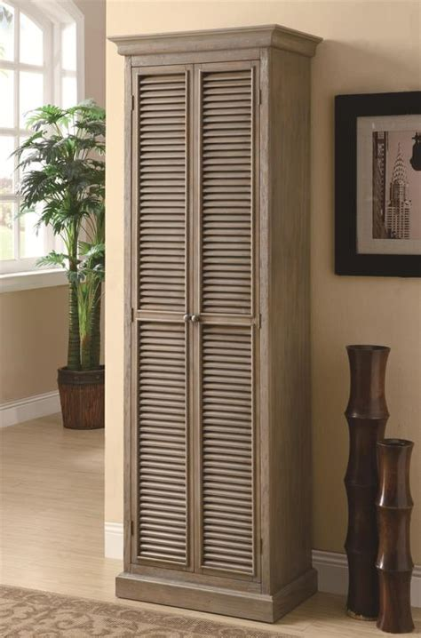 Coaster Accent Cabinets Tall Storage Cabinet With Shutter