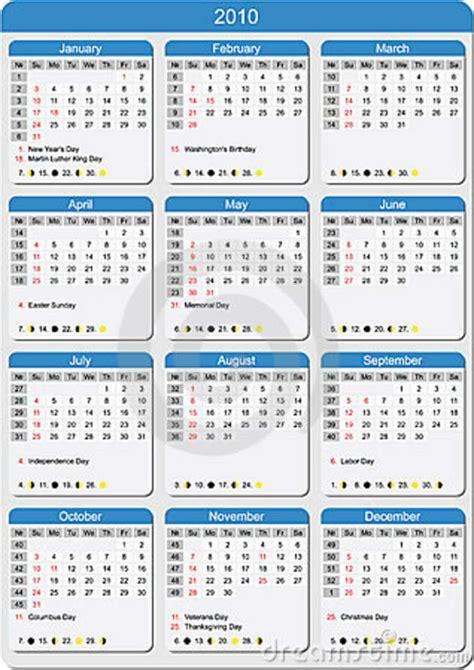 Calendario 2010 Usa Calendario 2010 Stati Uniti Immagine Stock Immagine 5633131