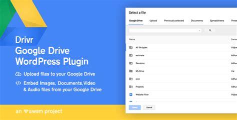 blogger plugin drivr v1 0 0 google drive plugin for wordpress blogger