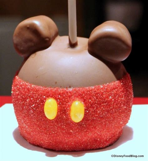 Apple Mickey Mouse Review Mickey Caramel Apple At Magic Kingdom S Big Top Treats The Disney Food