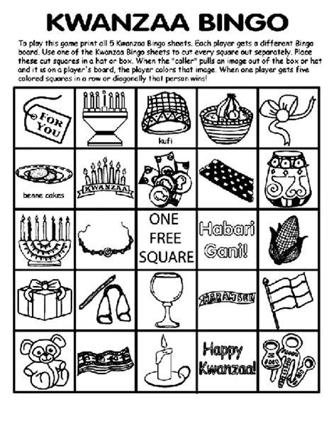 free coloring pages of kwanzaa kwanzaa bingo board no 5 coloring page crayola com