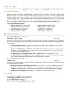 Sle Of Resume For Abroad by Resume For Teachers Sales Lewesmr