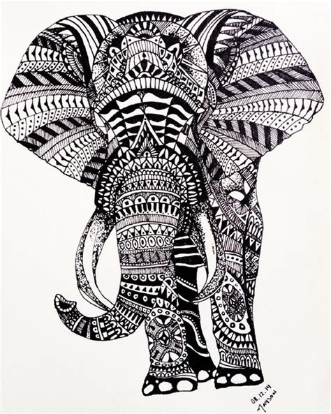 Room Designs For Guys by Elephant Zentangle Jayson Art Drawings Amp Illustration