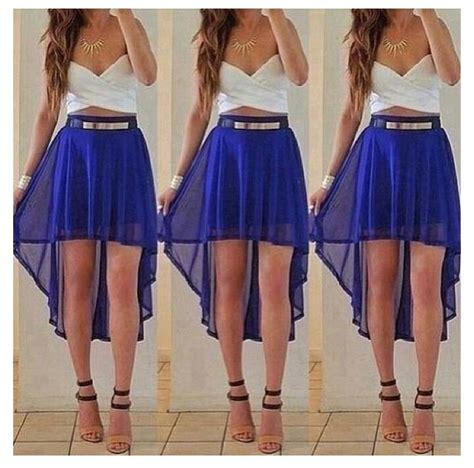 i this royal blue high low skirt cleaning up