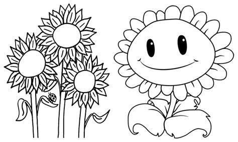 contoh gambar mewarnai bunga matahari