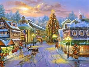beautiful christmas town art christmas illustrations drawings paintings pinterest
