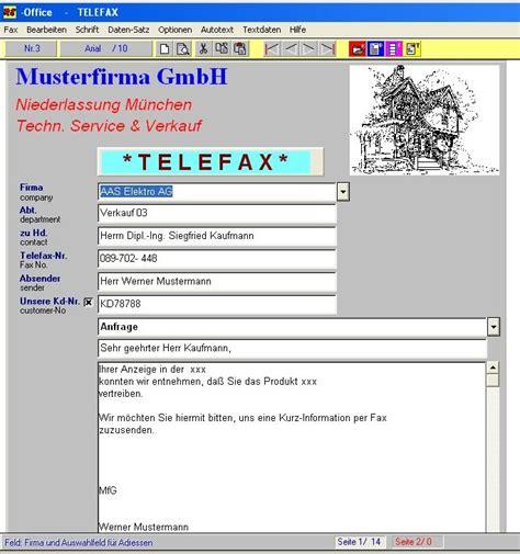 Anfrage Spanisch Brief Telefax V6