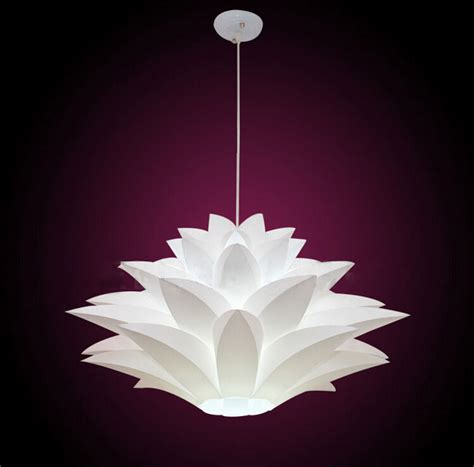 lotus flower pendant light modern novelty pendant lights diy lotus flower lshade