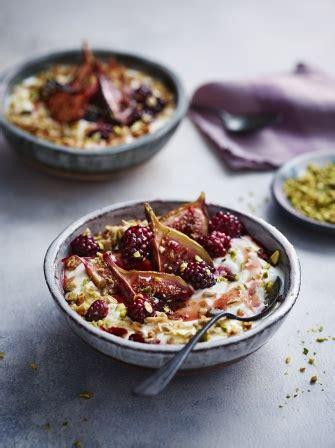 oliver breakfast ideas sticky cinnamon fig and yoghurt breakfast bowls fruit recipes magazine recipes