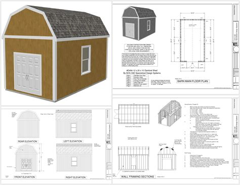 Gambrel Barn Plans by Gambrel Barn Plans Ebay