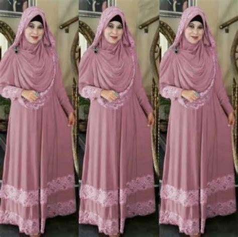 Pakaian Syari Wanita Termurah Gamis Maxi Salur Besar Simpel Elegan tren baju lebaran terbaru model gamis ide model busana