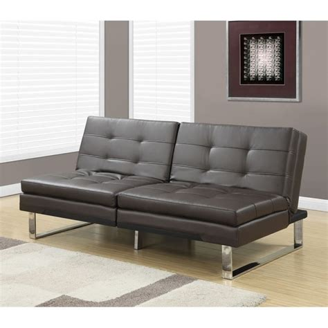 pillow top couches leather pillow top split back convertible sofa in