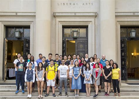 younger audience with educational event penn state university liberal arts international students penn state university