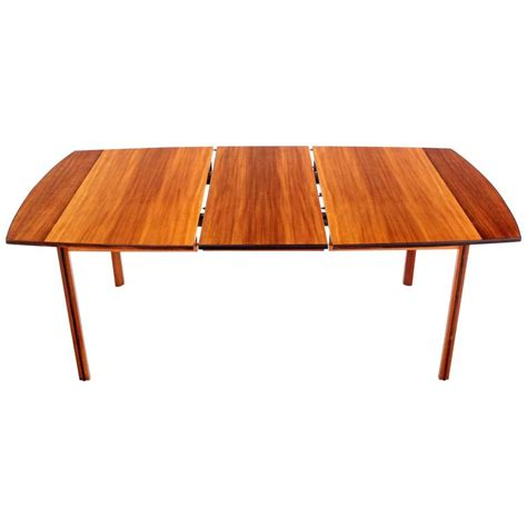 leaf pattern dining table striped pattern rosewood and teak danish modern dining