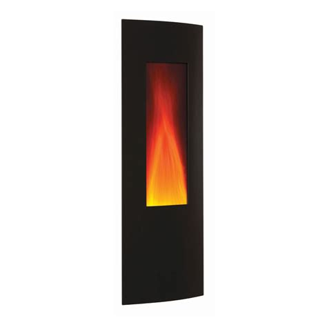 Vertical Electric Fireplace by Amantii 16 X 41 In Vertical Wall Mount Fireplace With