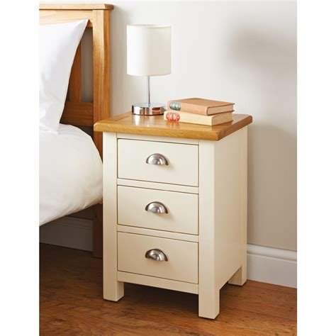 bed side newsham 3 drawer bedside table bedroom furniture b m