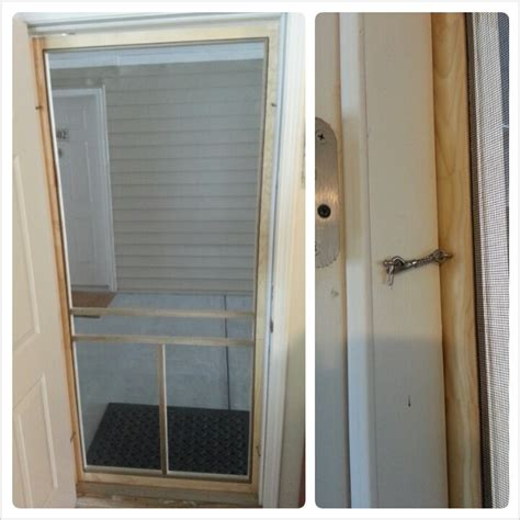 Apartment Door Screen Easy Diy Screen Door For An Apartment Can Only Be Used