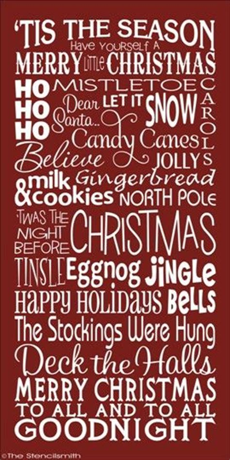 printable christmas word stencils subway signs stencils and word art on pinterest