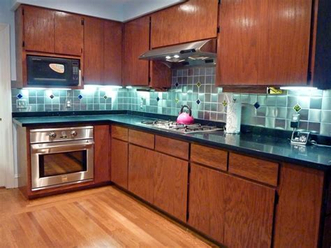 glass accent tile backsplash kitchen backsplash with