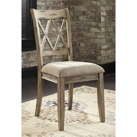 Antique Upholstered Dining Chairs Mestler Upholstered Dining Chair In Antique White D540 102