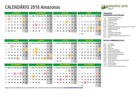 Calendario 2018 Manaus Calend 225 2018 Amazonas Feriados
