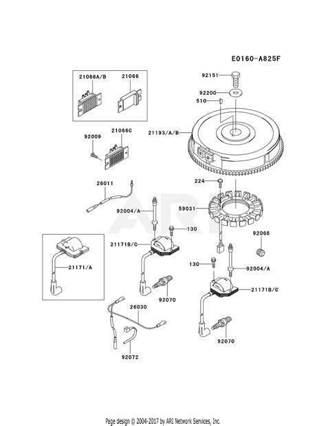 kawasaki fhv   stroke engine fhv parts diagram  electric equipment