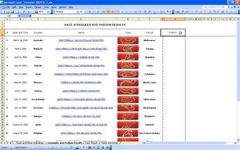 F1 Calendar 2013 Formula 1 Calendar 2009 Excel Templates