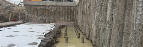 timber sheet pile wall piled retaining walls piling services ground developments