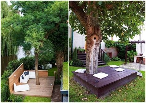 Remarkable Ideas To Decorate An Outdoor Tree Build A Backyard Tree Ideas