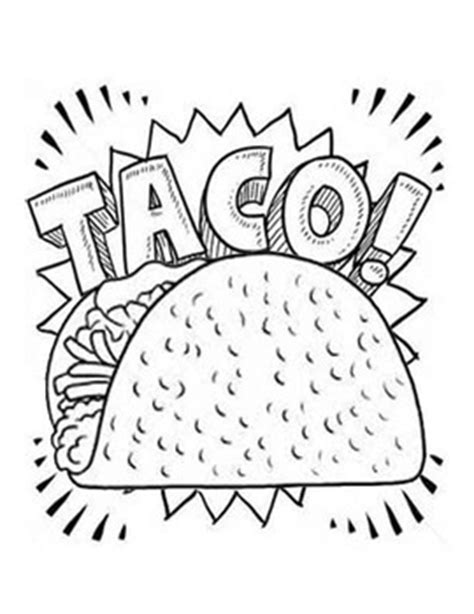 Dragons Love Tacos Coloring Page | cute taco coloring pages coloring pages