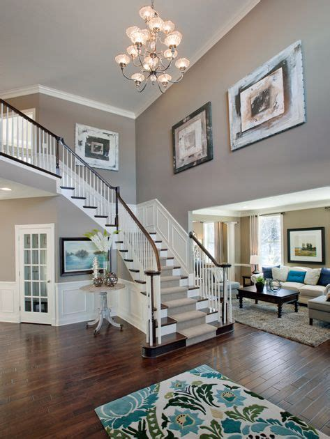 2 Story Foyer Decorating Ideas by Two Story Foyer On Plant Ledge Decorating 2
