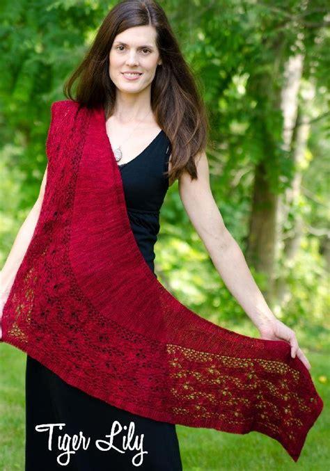 tigerlily knit tiger shawl knitting pattern by monika sirna