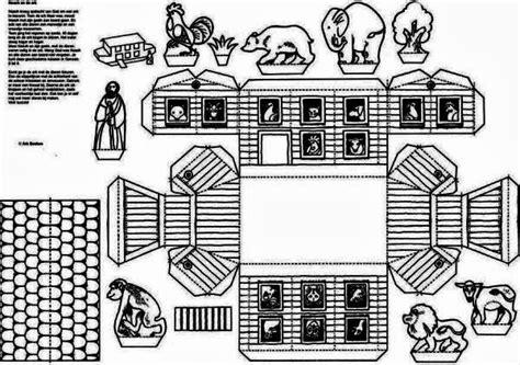 ark template papermau noah s ark paper model by gkv apeldoorn zuid