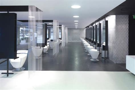modern hair salon furniture wooden hairdressing counters with mirror in modern hair