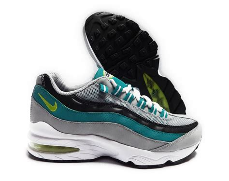 Nike Grade Ori nike air max 95 grey turbo green grade school size 4 ebay