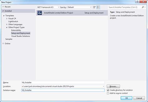 visual studio installshield tutorial creating an installer for your application in visual