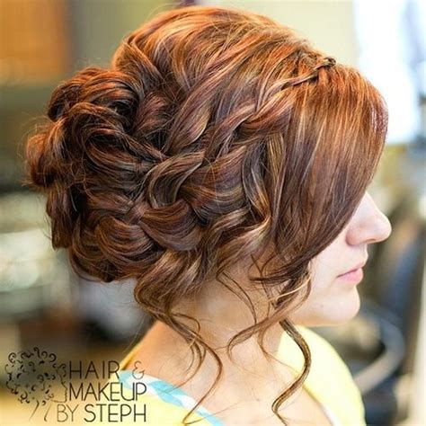 pintrest messy ypdos waterfall braid side updo i love messy but elegant updo