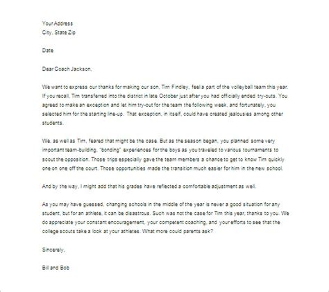 Thank You Letter Template Middle School Thank You Letter To 9 Free Sle Exle