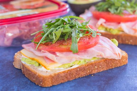 Bacon Main Dishes - ham and avocado open faced sandwich pumpkin n spice