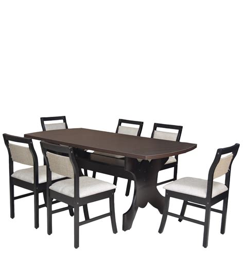 Buy Six Seater Dining Set With Six Chairs Mdf Top In Six Seater Dining Table