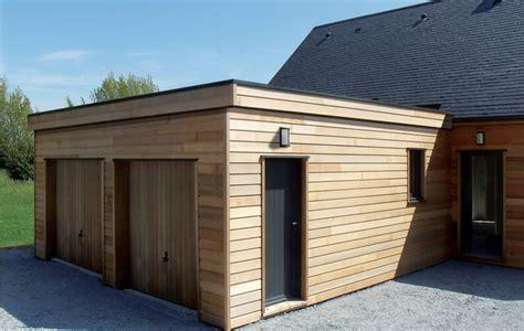 garage ossature bois en kit garage bois construit en ossature bois fabrication fran 231 aise