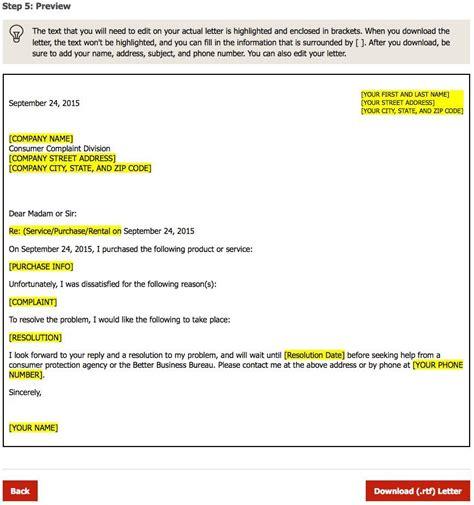 automatic complaint letter generator cover letter sle