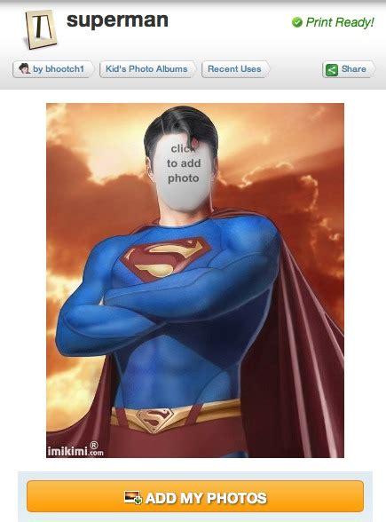 superman layout invitation photo booth fun