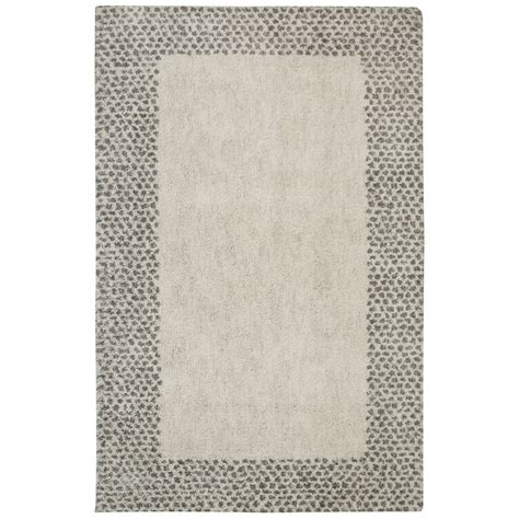 mohawk 8x10 area rug shop mohawk home spotted border gray beige indoor inspirational area rug common 8 x 10 actual