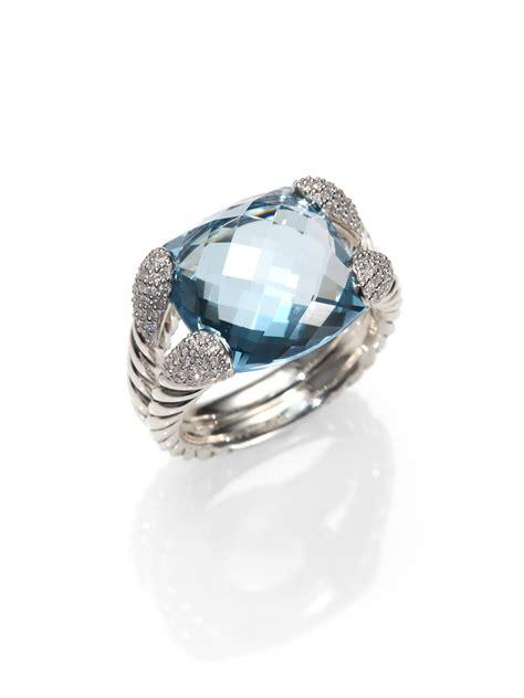 david yurman blue topaz sterling silver ring in
