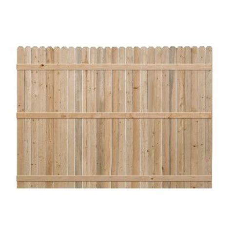 6 ft h x 8 ft w spruce pine fir ear fence panel 4449