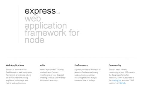 node js express framework tutorial a robust flexible node js web application framework